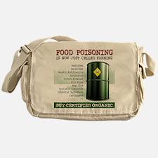 Buy Organic square white bg Messenger Bag
