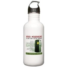 Buy Organic square white bg Water Bottle
