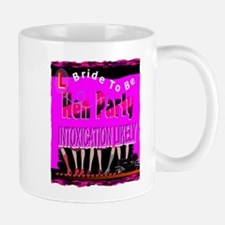 hen night party bachelorette art illustration Mug