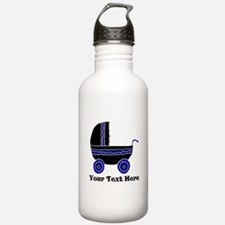 Stroller and Black Text Water Bottle