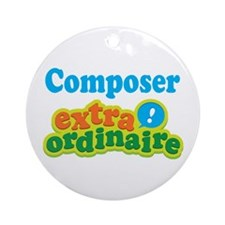 Composer Extraordinaire Ornament (Round)