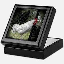 Rooster Trio Keepsake Box