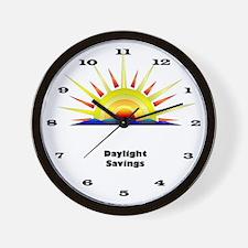 Daylight Savings Time Clock Wall Clock