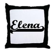 Black jersey: Elena Throw Pillow