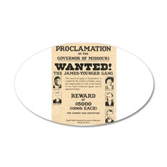 James Younger Gang Wanted Wall Decal