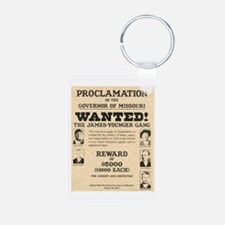 James Younger Gang Wanted Keychains