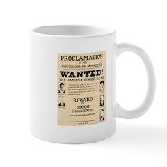 James Younger Gang Wanted Mug