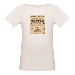 James Younger Gang Wanted Organic Baby T-Shirt