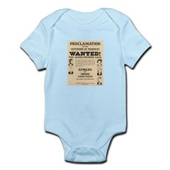 James Younger Gang Wanted Infant Bodysuit