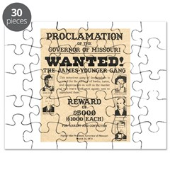 James Younger Gang Wanted Puzzle