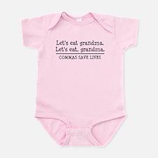 Lets eat grandma. Commas save lives Body Suit