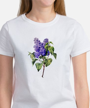 Lilac Drawn From Nature Women's T-Shirt