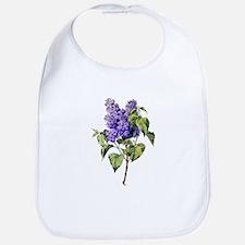 Lilac Drawn From Nature Bib