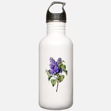 Lilac Drawn From Nature Water Bottle