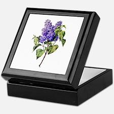 Lilac Drawn From Nature Keepsake Box