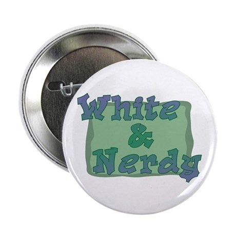 White & Nerdy Button