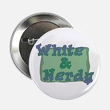 White & Nerdy Button