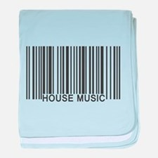 House Music Barcode baby blanket