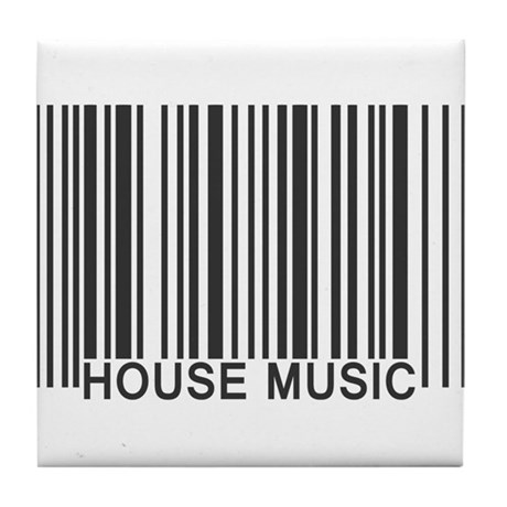 House music barcode tile coaster by kyandii for House music 90