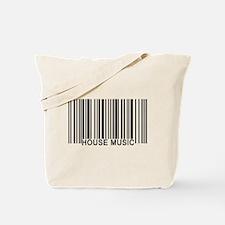 House Music Barcode Tote Bag