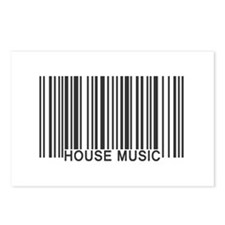 House Music Barcode Postcards (Package of 8)