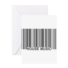 House Music Barcode Greeting Card