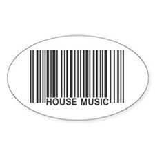 House Music Barcode Decal