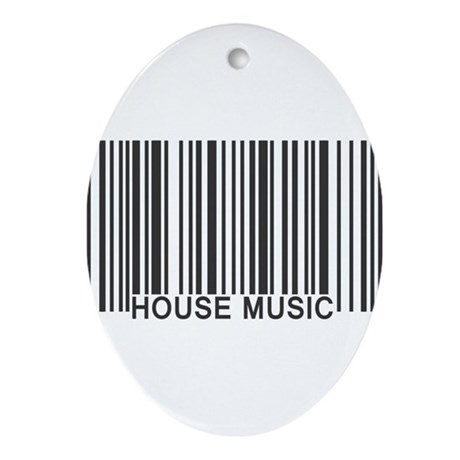 House music barcode ornament oval by kyandii for House music 90