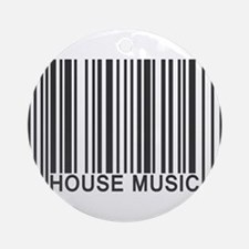 House Music Barcode Ornament (Round)