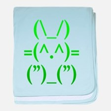 Ascii Rabbit baby blanket