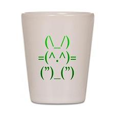 Ascii Rabbit Shot Glass