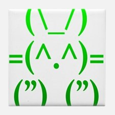 Ascii Rabbit Tile Coaster