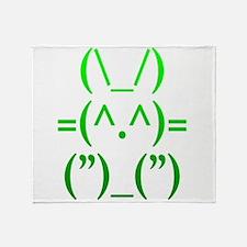 Ascii Rabbit Throw Blanket