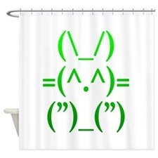 Ascii Rabbit Shower Curtain