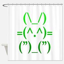 Ascii Rabbit Shower Curtain