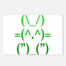 Ascii Rabbit Postcards (Package of 8)