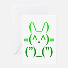 Ascii Rabbit Greeting Card