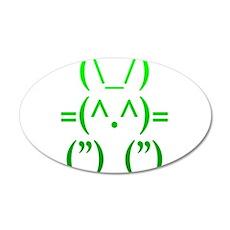 Ascii Rabbit Wall Sticker