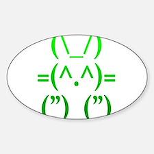 Ascii Rabbit Sticker (Oval)