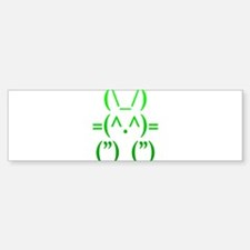 Ascii Rabbit Bumper Bumper Sticker