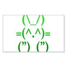 Ascii Rabbit Decal