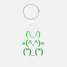 Ascii Rabbit Keychains