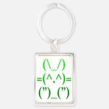 Ascii Rabbit Portrait Keychain