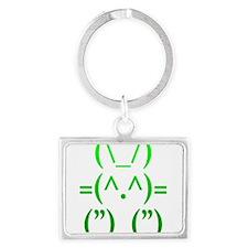 Ascii Rabbit Landscape Keychain