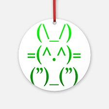 Ascii Rabbit Ornament (Round)
