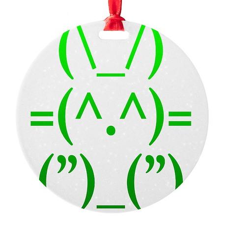 Ascii Rabbit Round Ornament