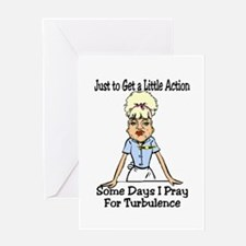 a little action Greeting Cards