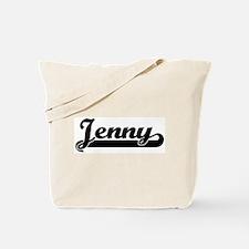 Black jersey: Jenny Tote Bag
