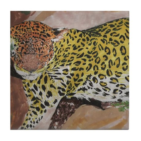 Leopard- God's Creatures Tile Coaster