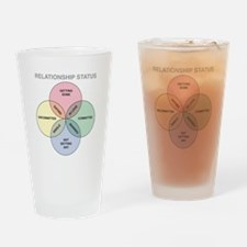 Relationship Status Drinking Glass